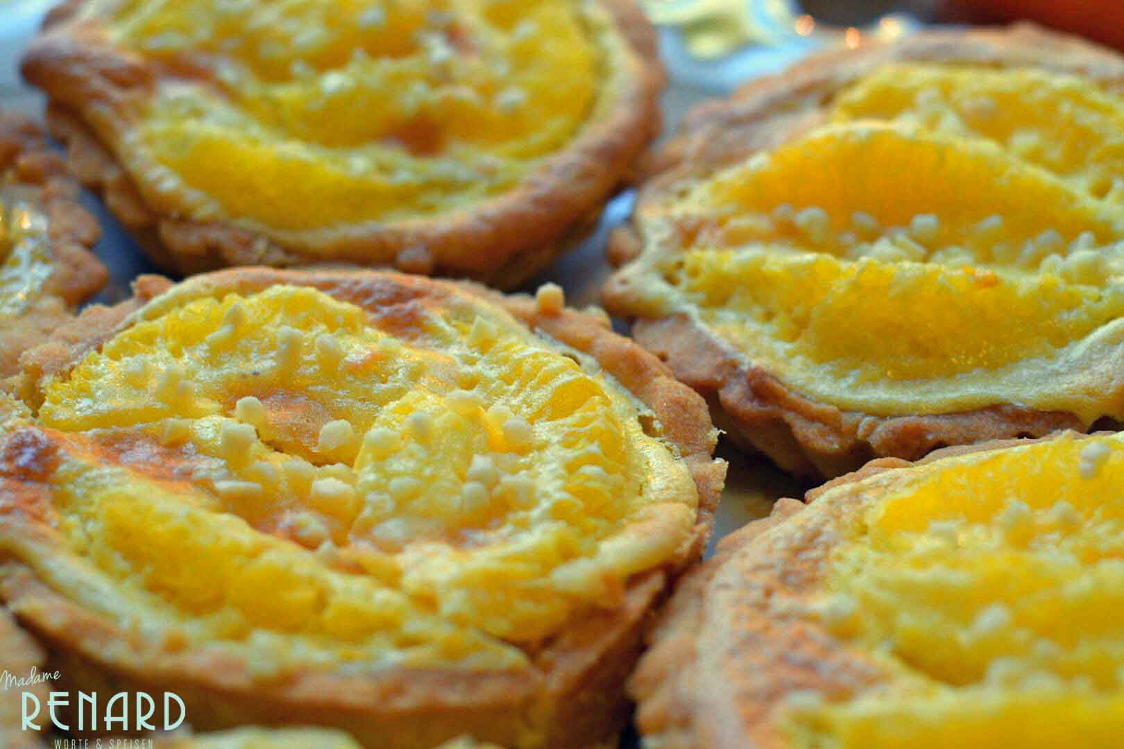 Orangen-Tarte mit Mandelcreme, Foto: Madame Renard
