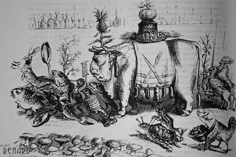 Historische Festtafel, Foto: Madame Renard