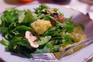 Salat mit Tête de Moine, Foto: Madame Renard
