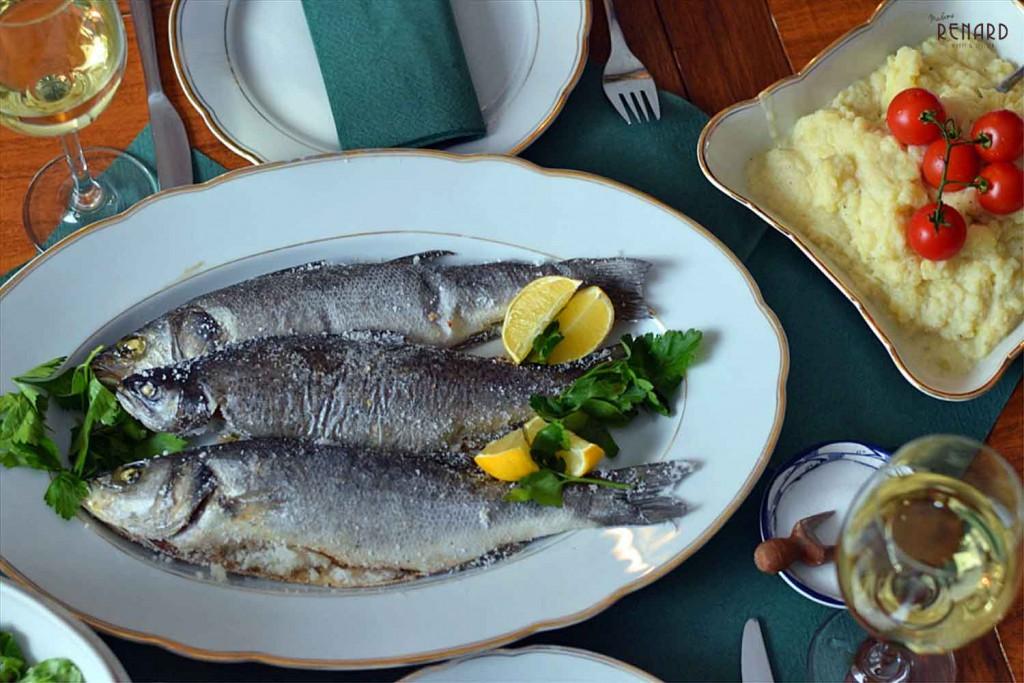 Fisch im Salzbett, Foto: Madame Renard