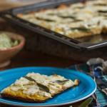 Kartoffel-Ziegenkäse-Pizza, Foto: Madam Rote Rübe