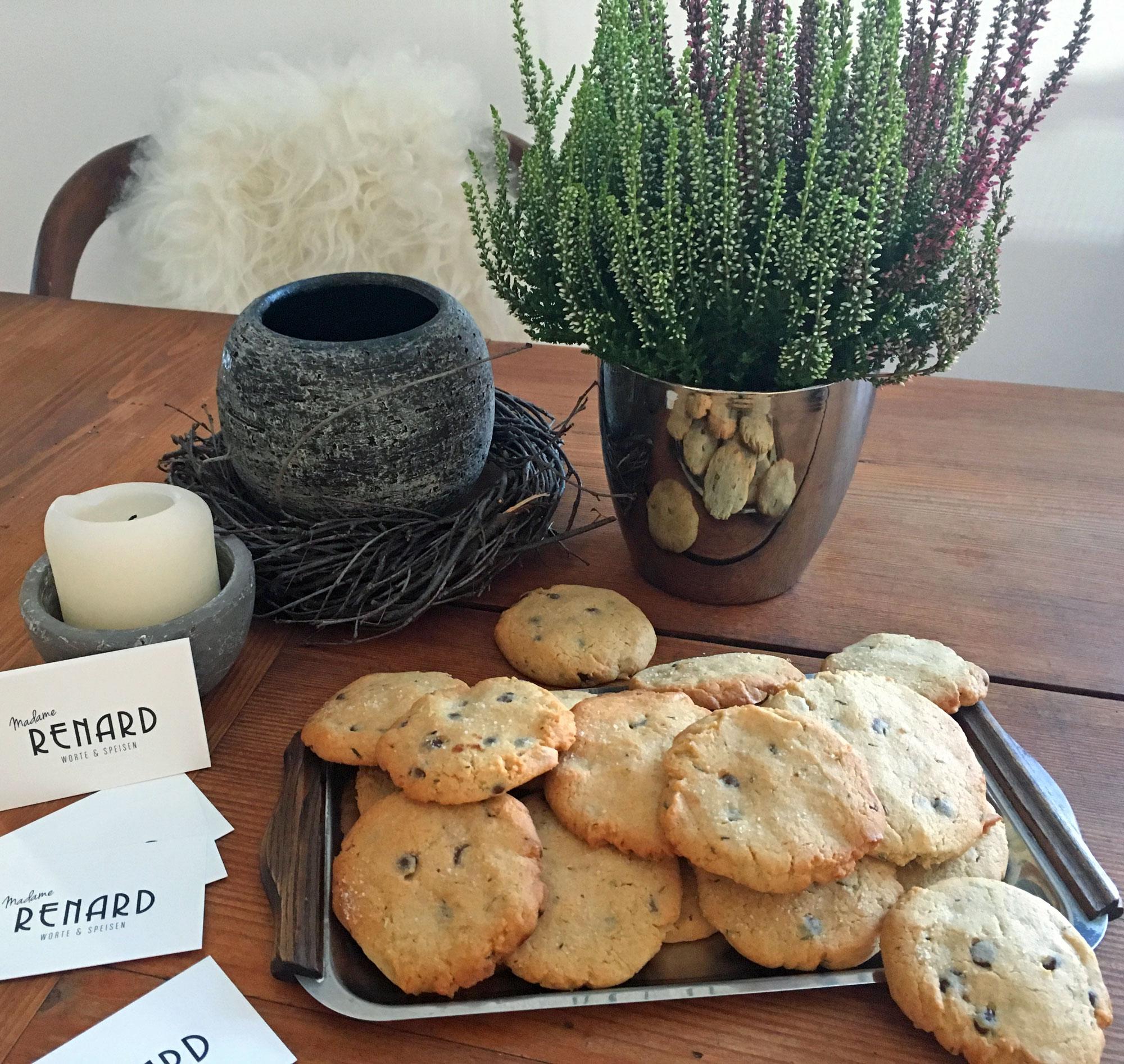 Kekse mit Thymian und Schokolade, Foto: Madame Renard